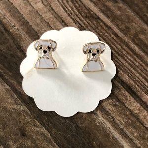 Jewelry - Boxer Enamel Stud Earrings